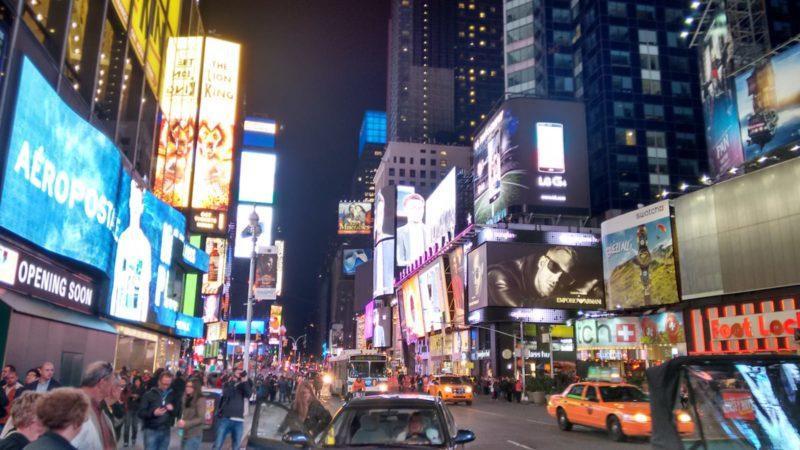 Montajes de publicidad en la gran ciudad